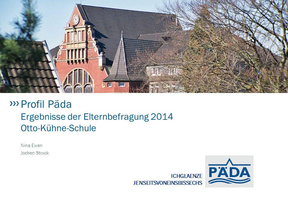 Profil Päda Ergebnisse der Elternbefragung 2014 Otto-Kühne-Schule
