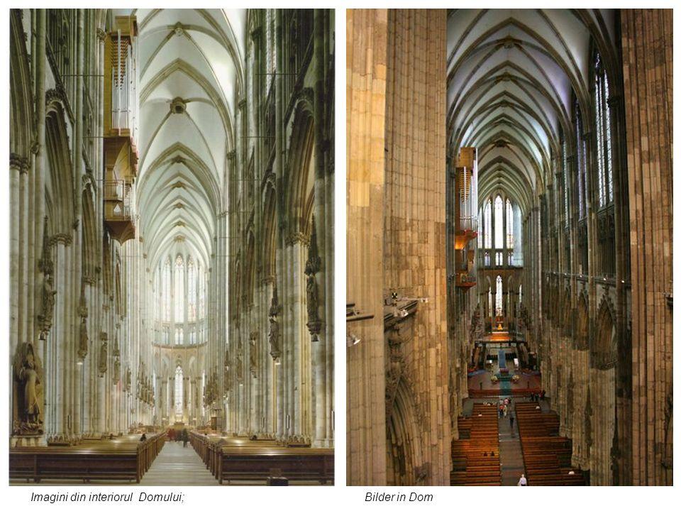 Imagini din interiorul Domului; Bilder in Dom
