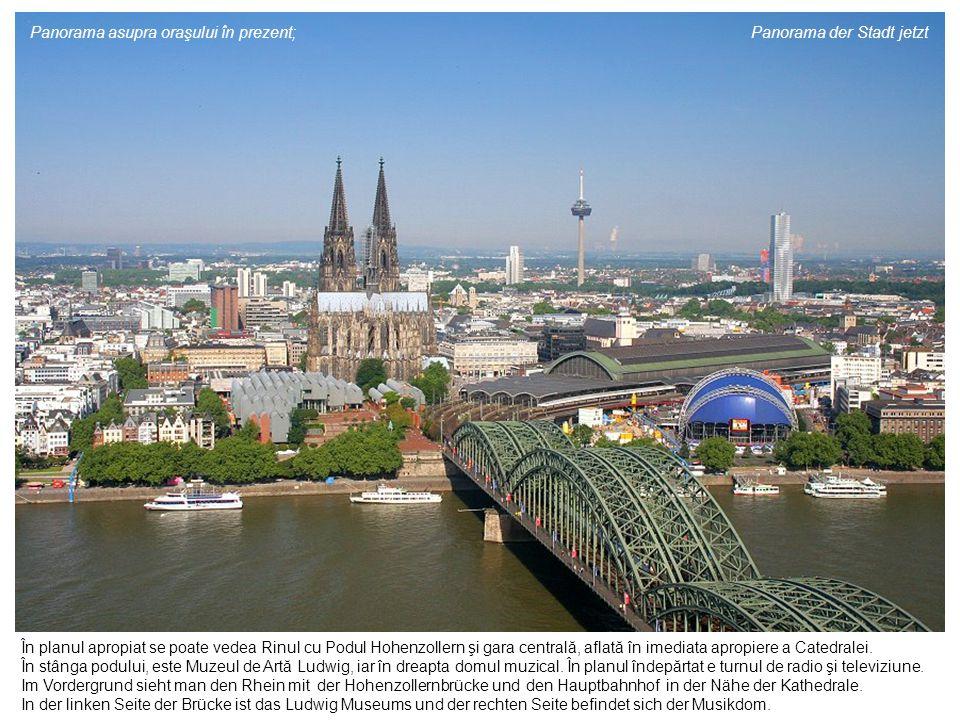 Panorama asupra oraşului în prezent; Panorama der Stadt jetzt