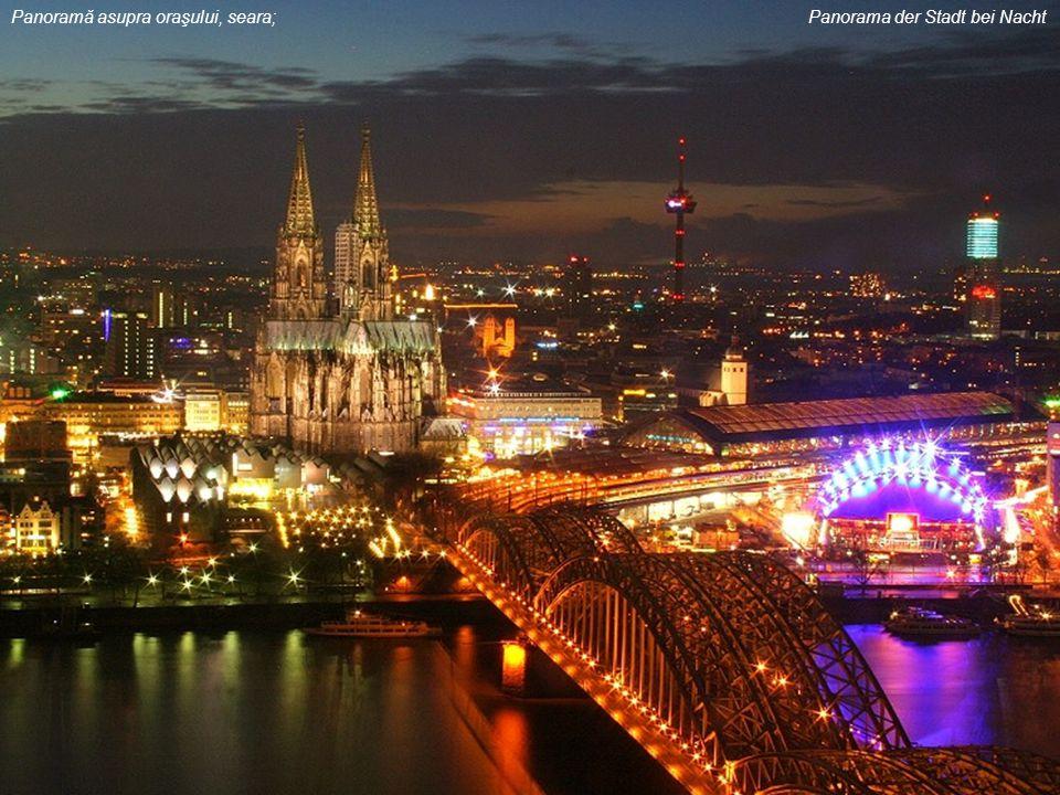 Panoramă asupra oraşului, seara; Panorama der Stadt bei Nacht