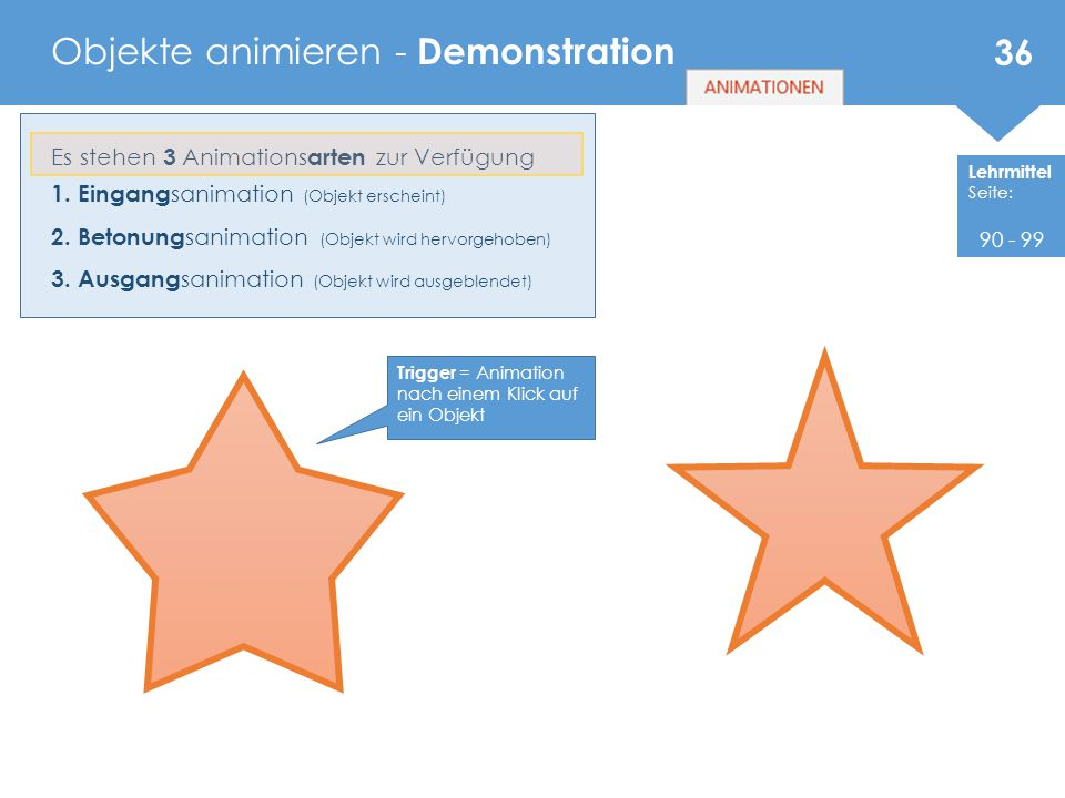 Objekte animieren - Demonstration