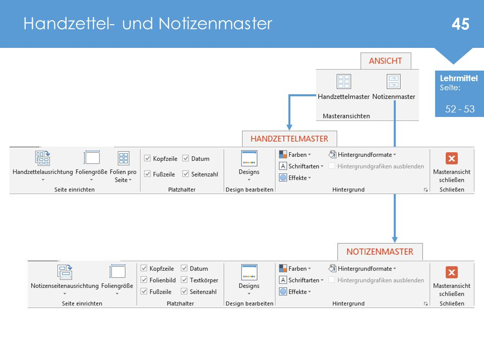 Handzettel- und Notizenmaster