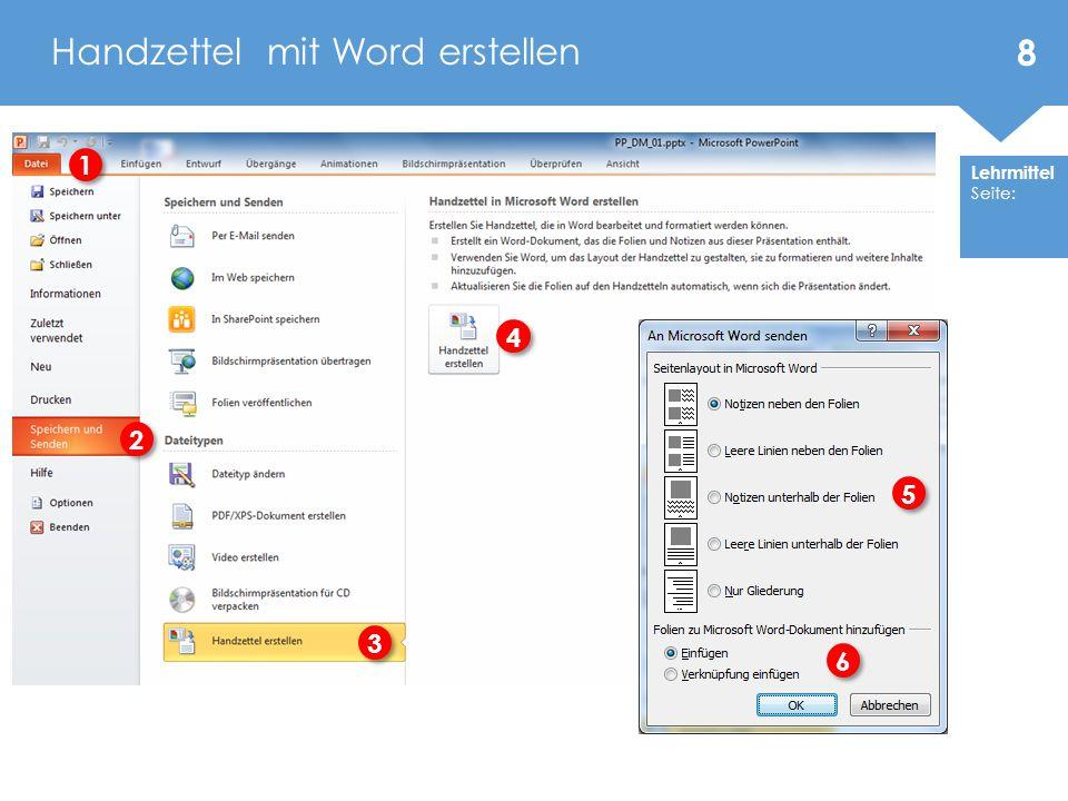 Handzettel mit Word erstellen