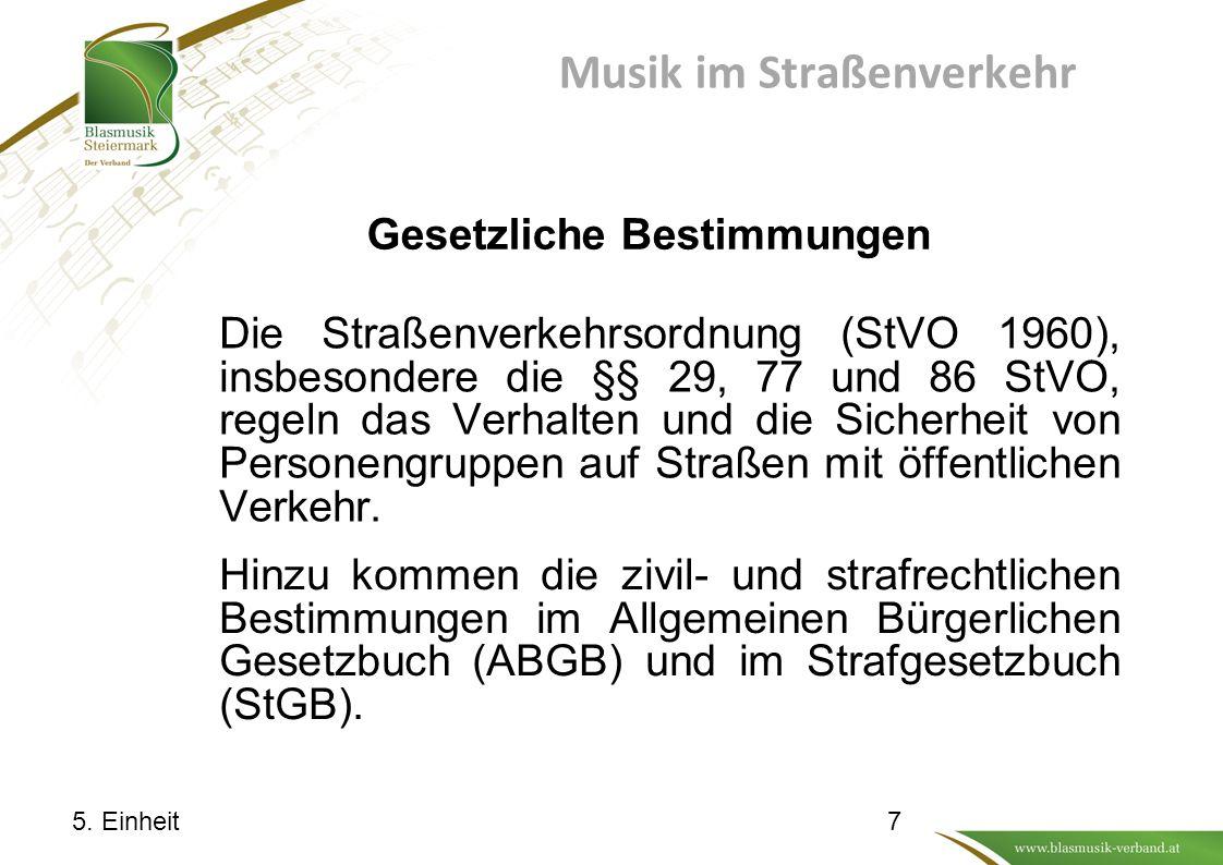 Musik im Straßenverkehr Gesetzliche Bestimmungen