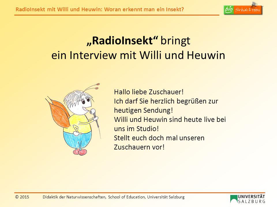 """""""RadioInsekt bringt ein Interview mit Willi und Heuwin"""