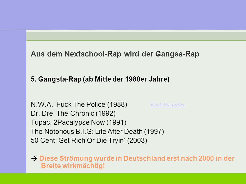 Aus dem Nextschool-Rap wird der Gangsa-Rap