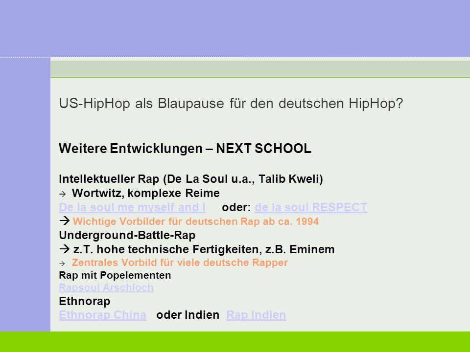 US-HipHop als Blaupause für den deutschen HipHop