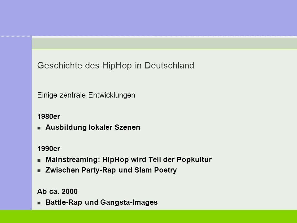 Geschichte des HipHop in Deutschland