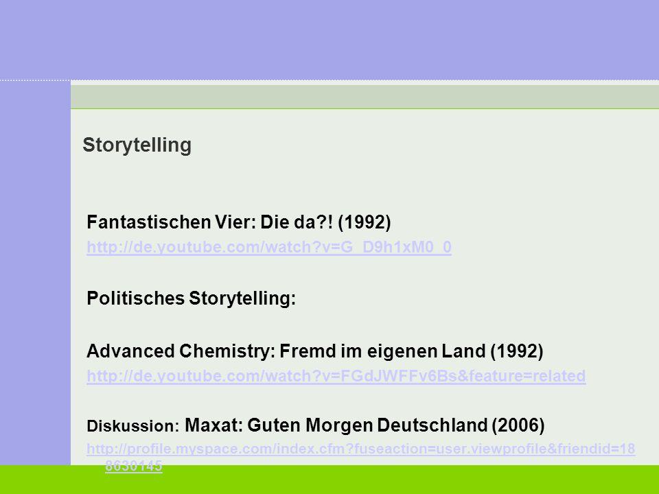 Storytelling Fantastischen Vier: Die da ! (1992)