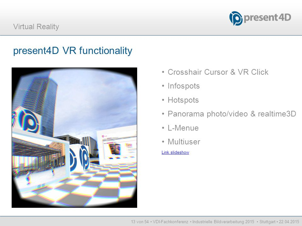 present4D VR functionality