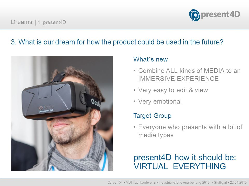 present4D how it should be: VIRTUAL EVERYTHING