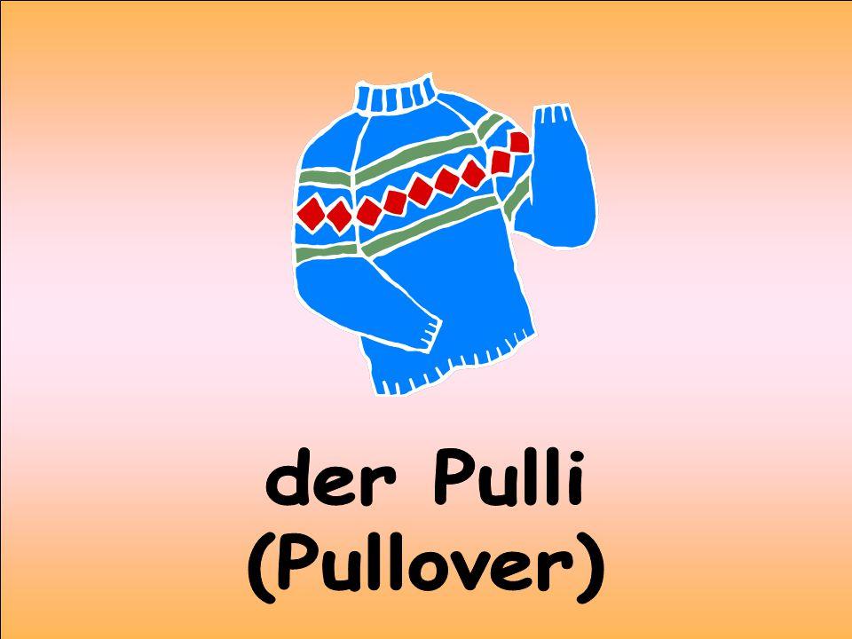 der Pulli (Pullover)