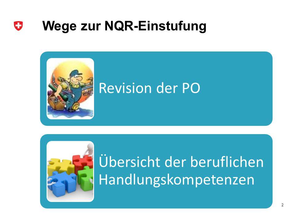 Wege zur NQR-Einstufung