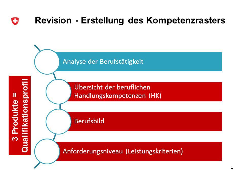 Revision - Erstellung des Kompetenzrasters