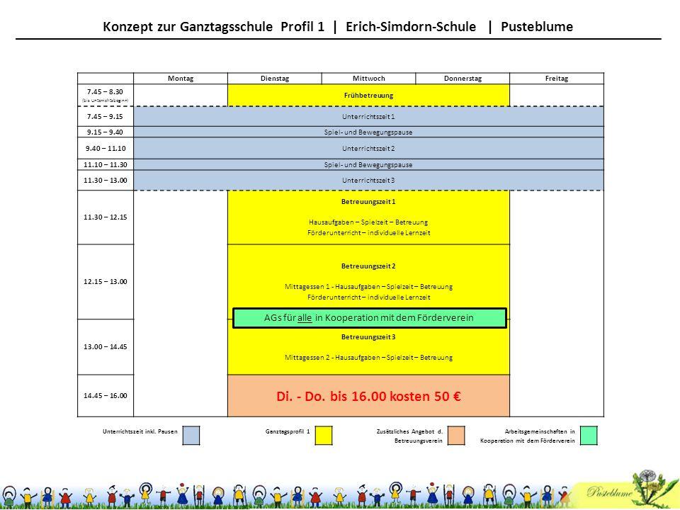 Konzept zur Ganztagsschule Profil 1 | Erich-Simdorn-Schule | Pusteblume