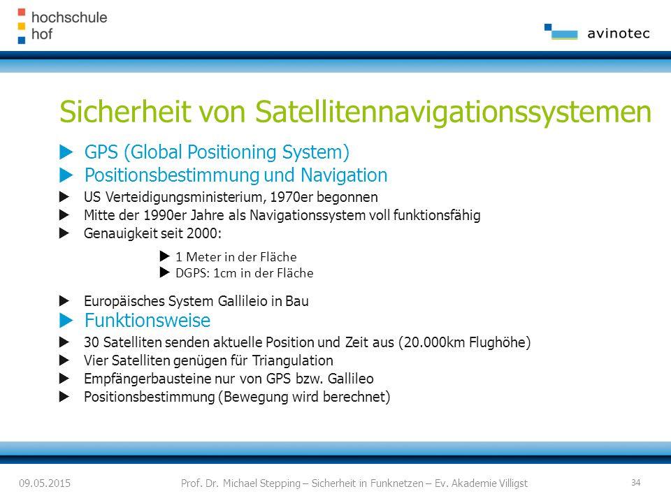 Sicherheit von Satellitennavigationssystemen