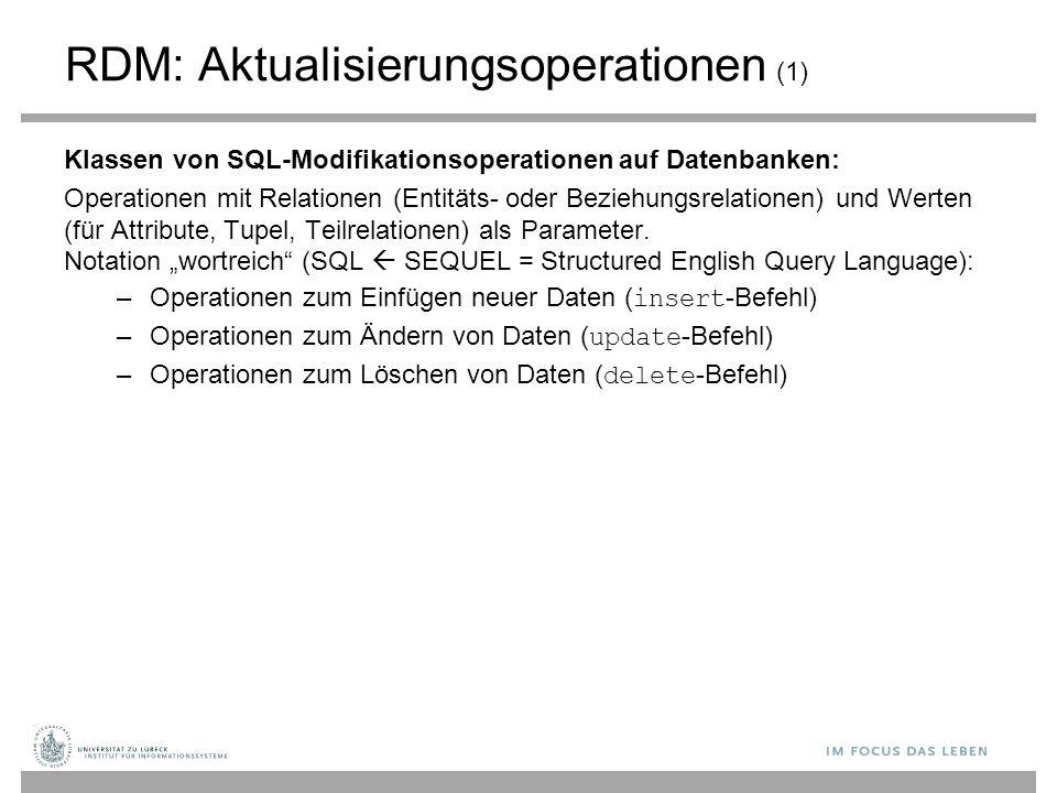 RDM: Aktualisierungsoperationen (1)