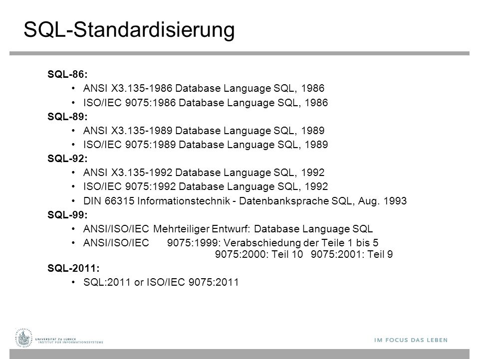 SQL-Standardisierung