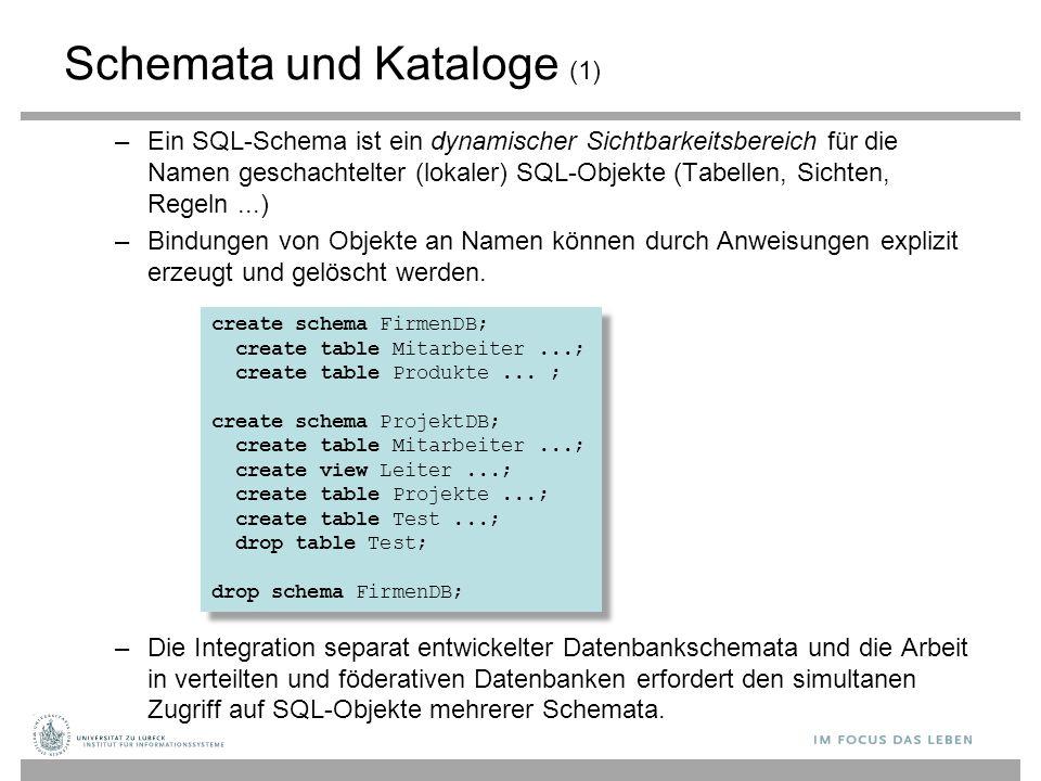 Schemata und Kataloge (1)
