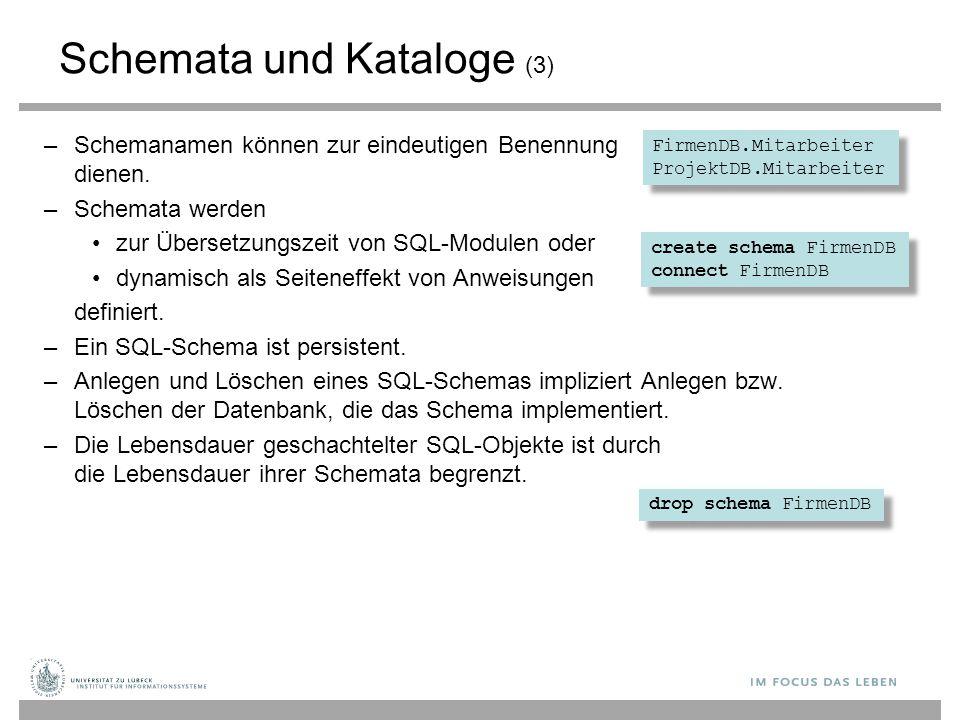 Schemata und Kataloge (3)