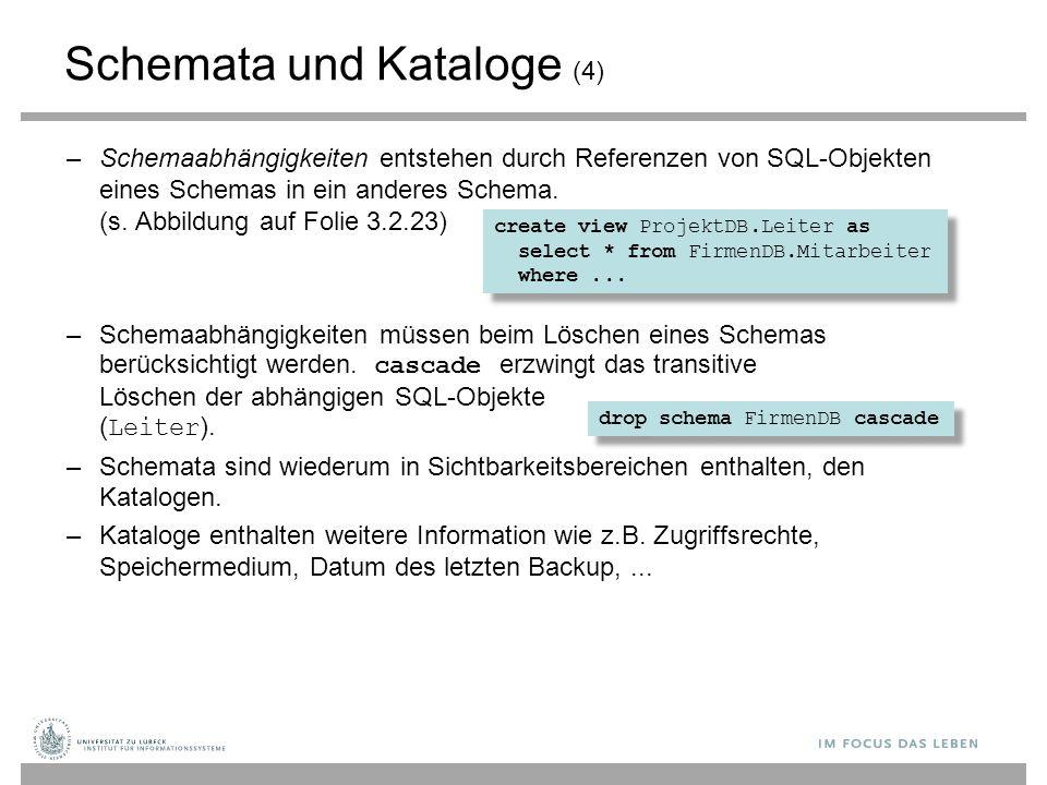 Schemata und Kataloge (4)