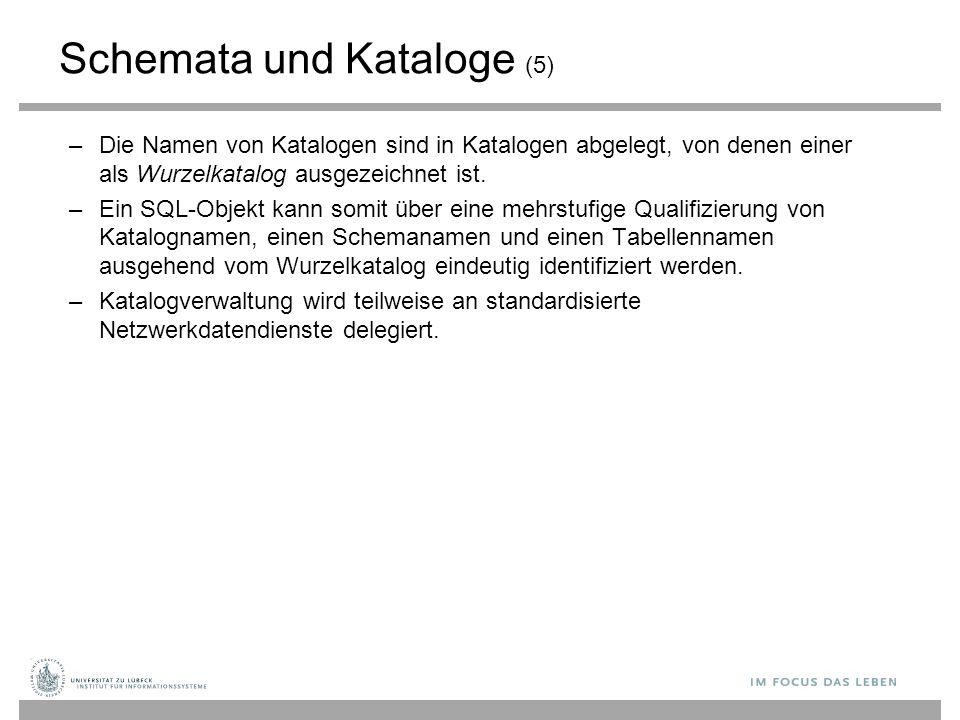 Schemata und Kataloge (5)