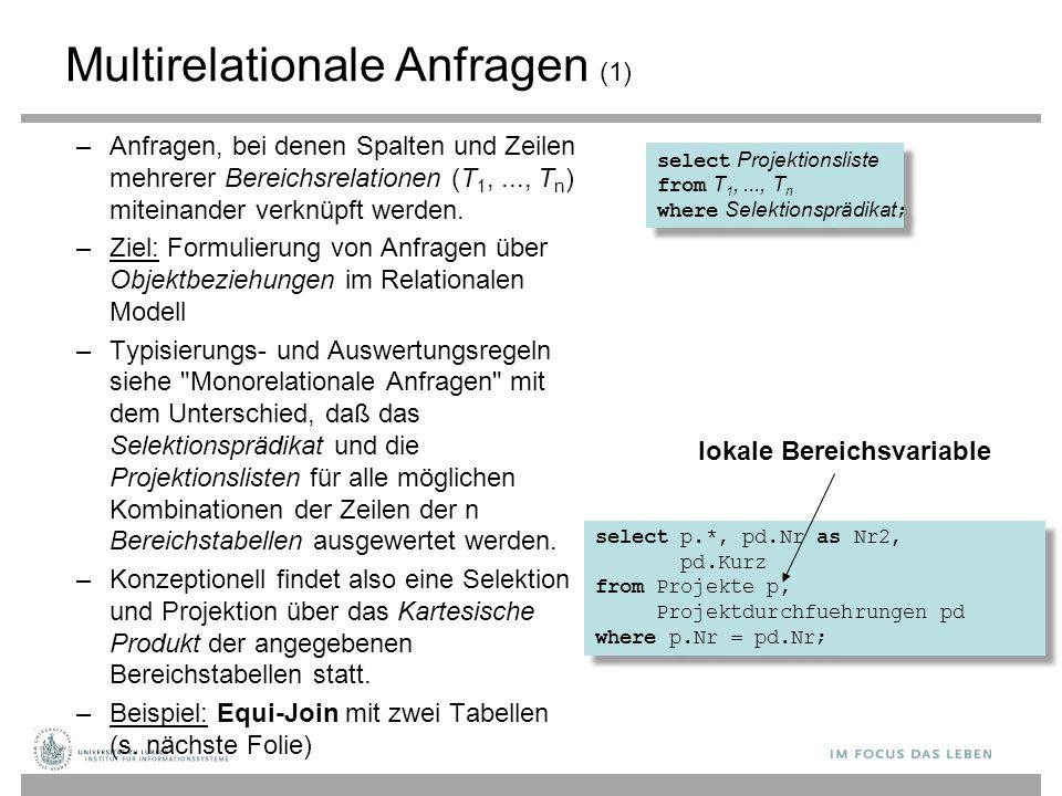 Multirelationale Anfragen (1)