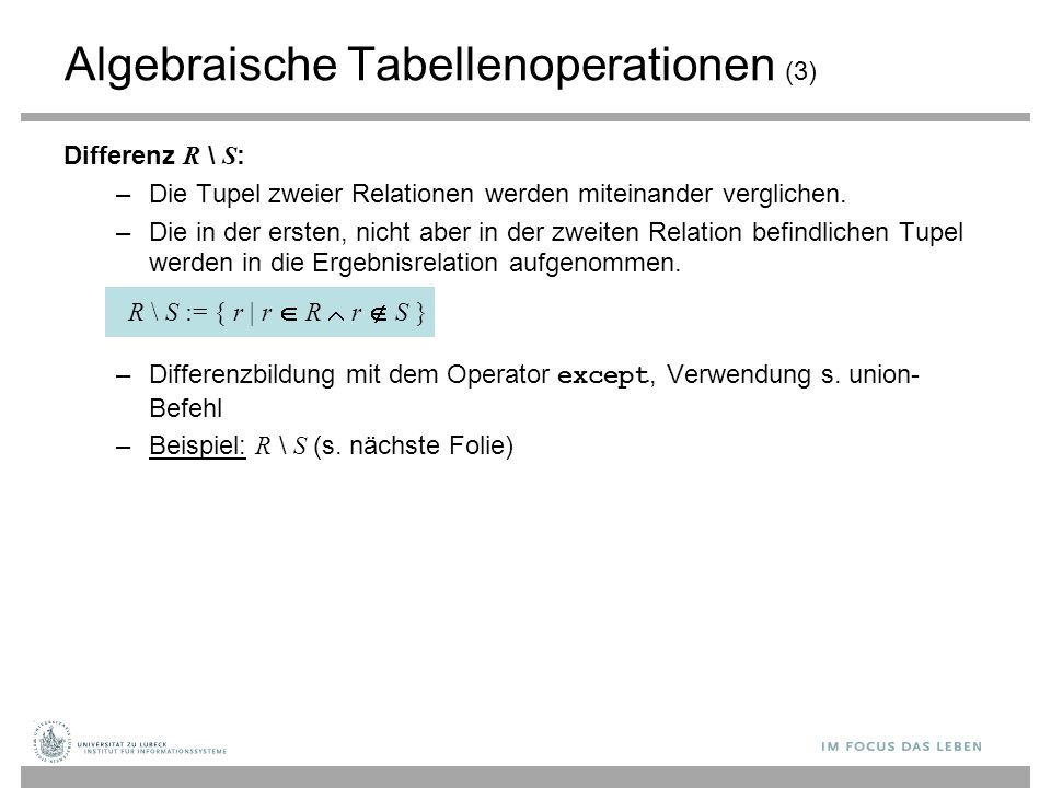 Algebraische Tabellenoperationen (3)
