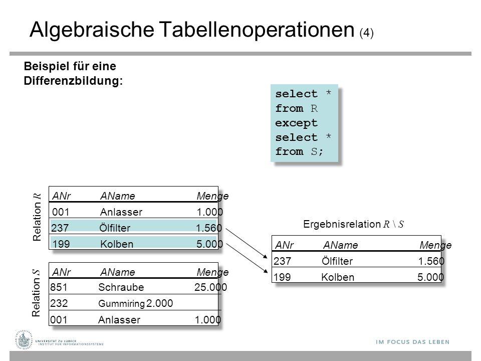 Algebraische Tabellenoperationen (4)