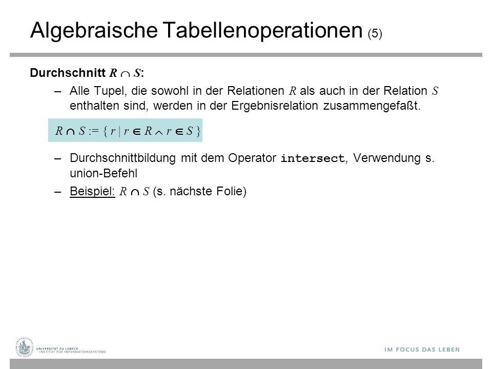 Algebraische Tabellenoperationen (5)
