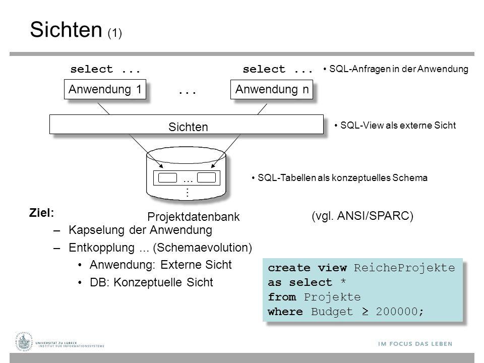 SQL-Anfragen in der Anwendung