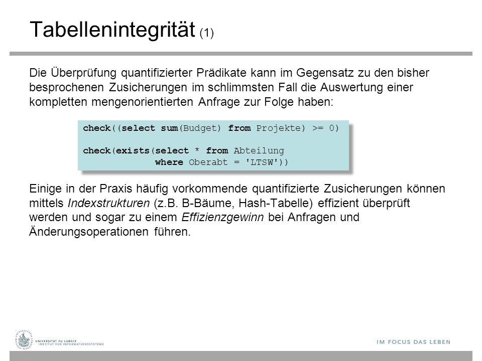 Tabellenintegrität (1)
