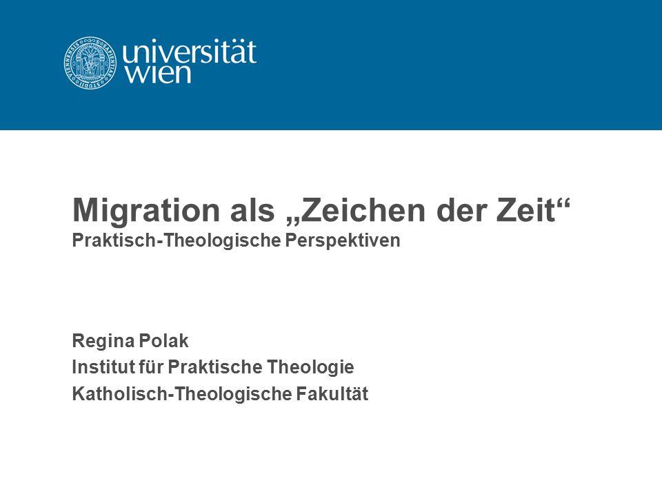 """Migration als """"Zeichen der Zeit Praktisch-Theologische Perspektiven"""