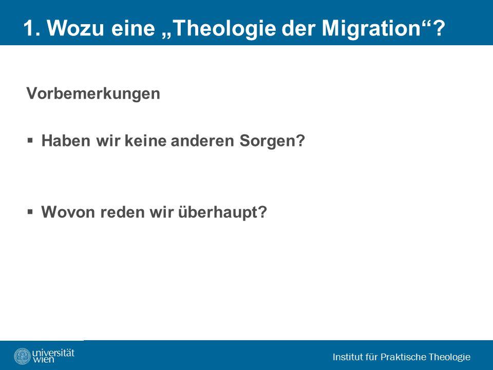 """1. Wozu eine """"Theologie der Migration"""