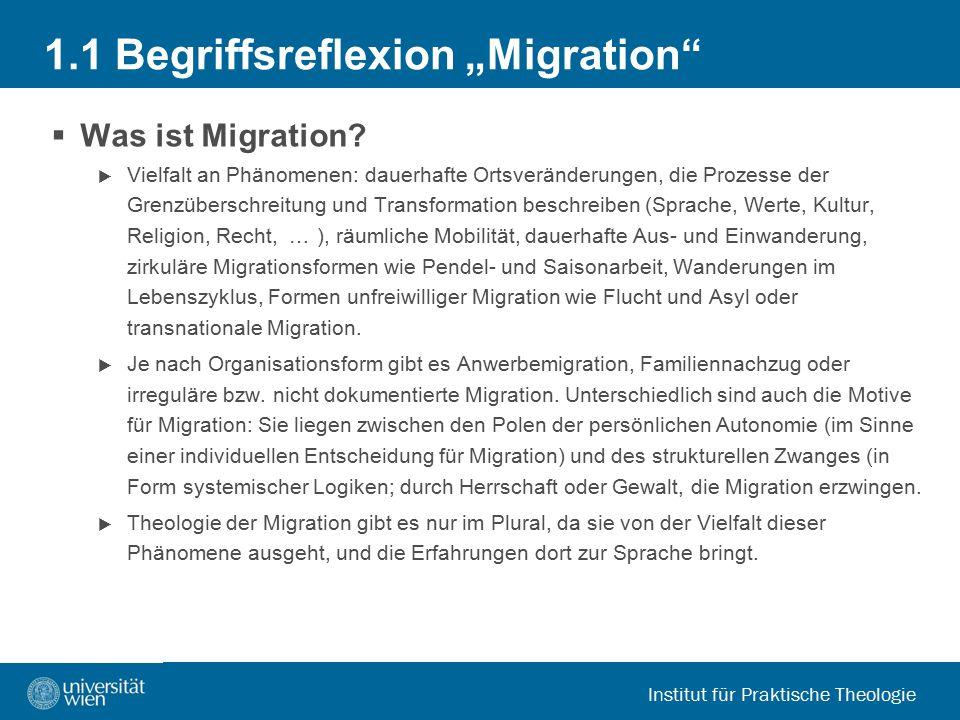 """1.1 Begriffsreflexion """"Migration"""