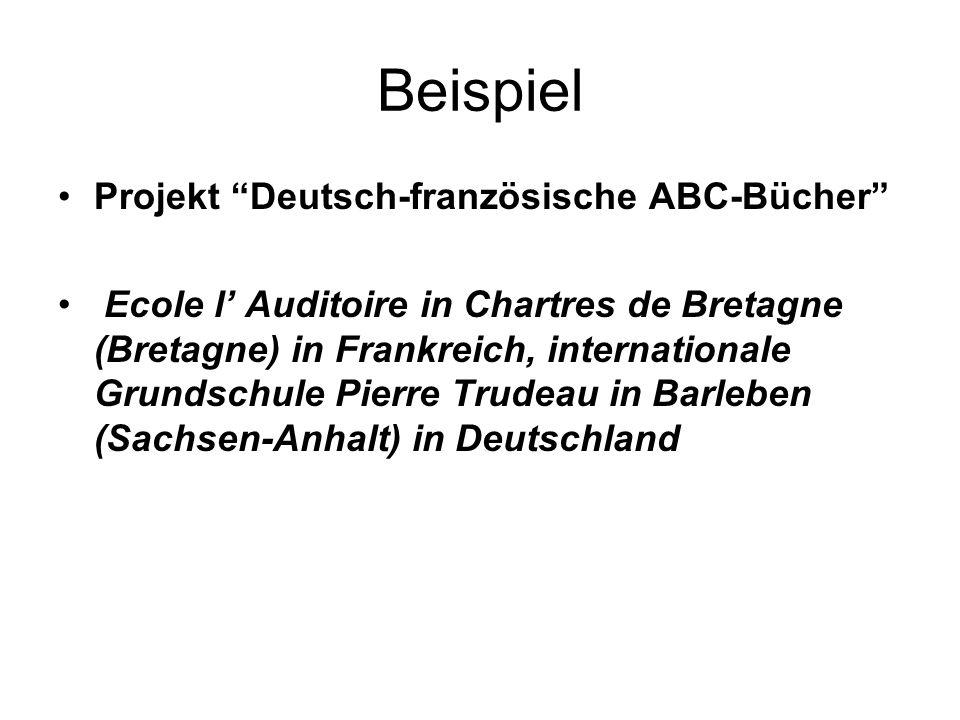 Beispiel Projekt Deutsch-französische ABC-Bücher
