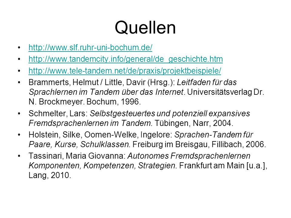 Quellen http://www.slf.ruhr-uni-bochum.de/