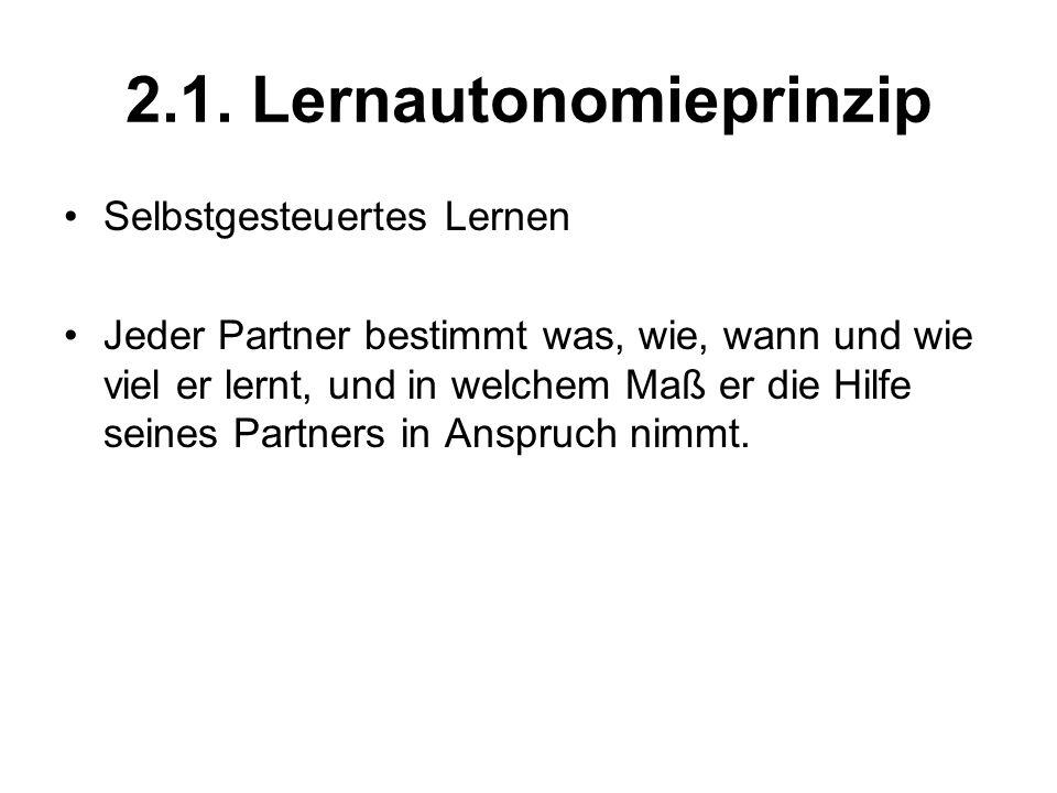 2.1. Lernautonomieprinzip