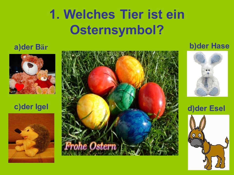 1. Welches Tier ist ein Osternsymbol