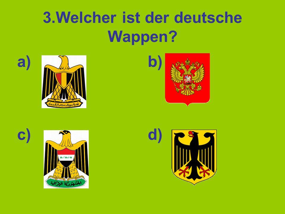 3.Welcher ist der deutsche Wappen