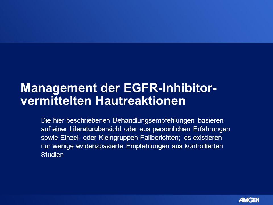 Management der EGFR-Inhibitor-vermittelten Hautreaktionen