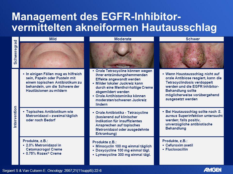 Management des EGFR-Inhibitor-vermittelten akneiformen Hautausschlag