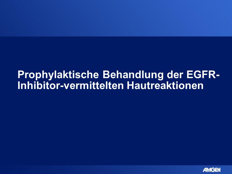 Prophylaktische Behandlung der EGFR-Inhibitor-vermittelten Hautreaktionen