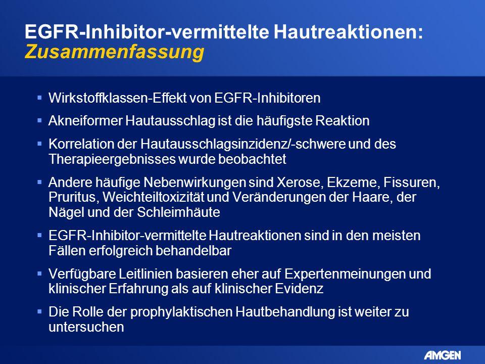 EGFR-Inhibitor-vermittelte Hautreaktionen: Zusammenfassung