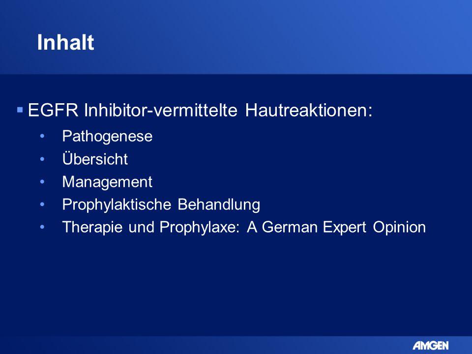 Inhalt EGFR Inhibitor-vermittelte Hautreaktionen: Pathogenese
