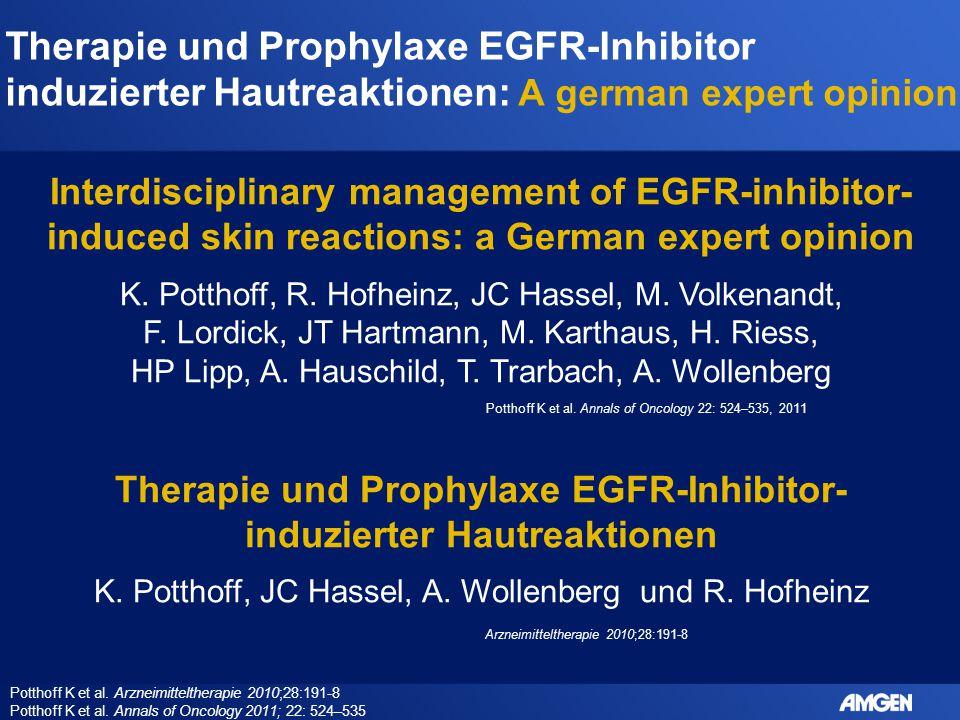 Therapie und Prophylaxe EGFR-Inhibitor-induzierter Hautreaktionen
