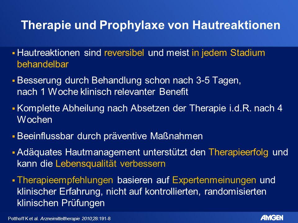 Therapie und Prophylaxe von Hautreaktionen