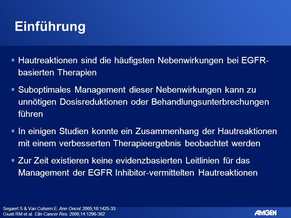 Einführung Hautreaktionen sind die häufigsten Nebenwirkungen bei EGFR-basierten Therapien.