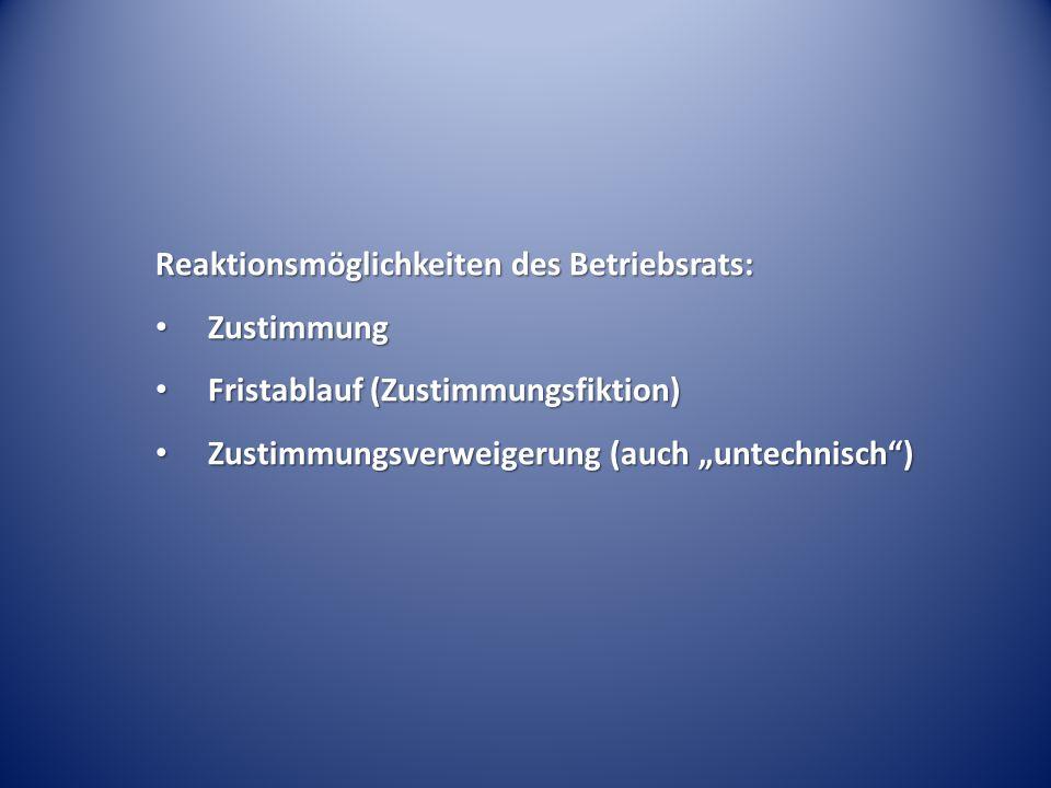 Reaktionsmöglichkeiten des Betriebsrats: