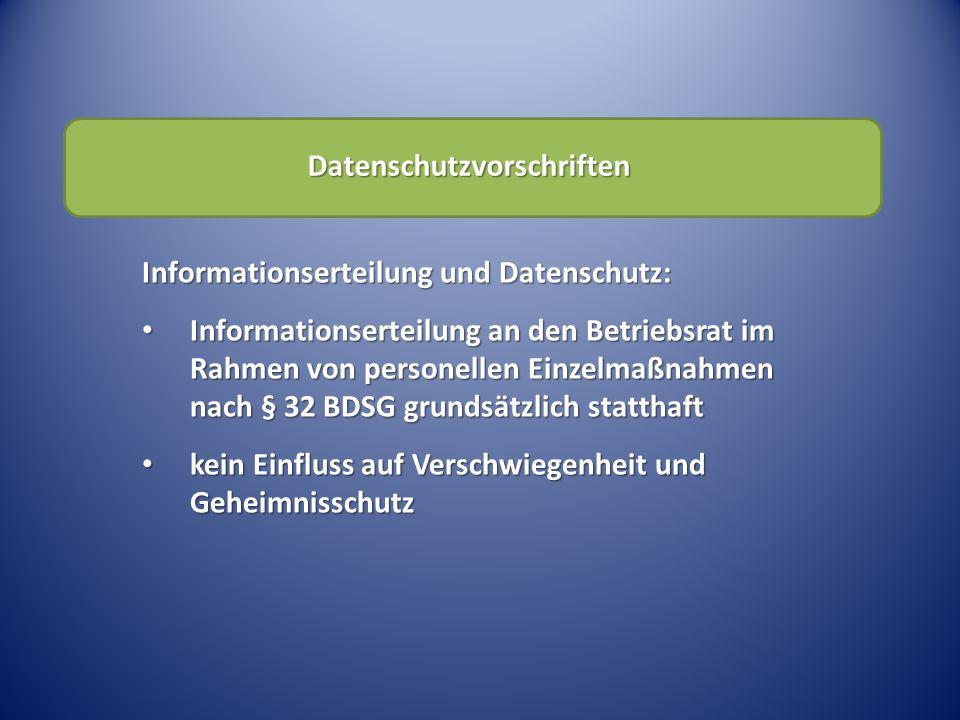 Datenschutzvorschriften